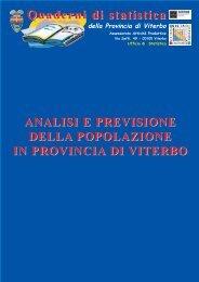 Quaderno di statistica 2004 - Popolazione - Provincia di Viterbo