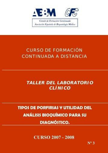 CURSO 2007 - 2008 - Asociación Española de Biopatología Médica