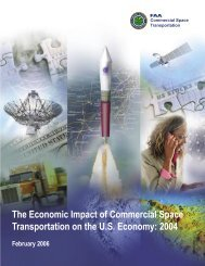 The Economic Impact of Commercial Space Transportation on ... - FAA
