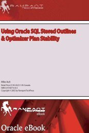Using Oracle SQL Stored Outlines & Optimizer Plan Stability