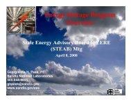 Energy Storage Program Overview - steab