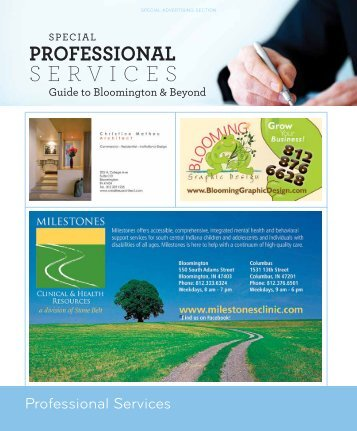 Download the Professional Services guide here! - Bloom Magazine
