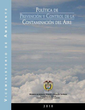 Política de - Ministerio de Ambiente, Vivienda y Desarrollo Territorial