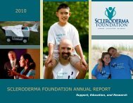 2010 SCLERODERMA FOUNDATION ANNUAL REPORT