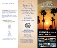Don't miss the 69th Annual International Water Conference® - ESWP