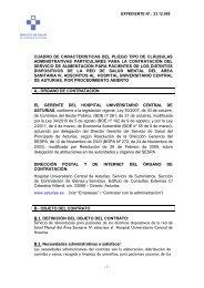 Pliego de Clausulas Administrativas Particulares - Hospital ...