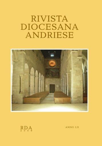 """""""Rivista Diocesana Andriese"""" - Maggio / Agosto ... - Diocesi di Andria"""