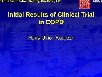 Initial results of clinical trial in COPD - Phil.ens.fr