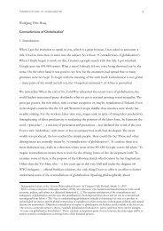 Contradictions of Globalization - Wolfgang Fritz Haug