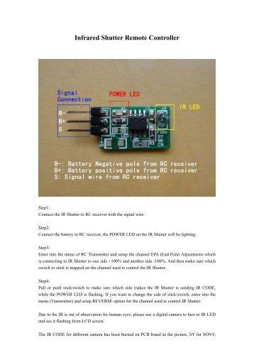 Infrared Shutter Remote Controller - HiModel