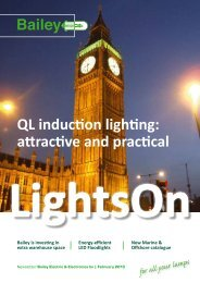 QL induction lighting: attractive and practical - Bailey
