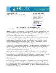 Pain, Epigenetics and Endometriosis - Experimental Biology