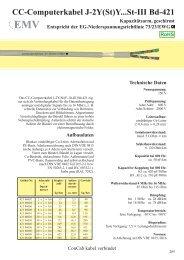 CC-Computerkabel J-2Y(St)Y...St-III Bd-421 - ConCab kabel gmbh