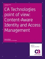 Content-Aware Identity and Access Management - CA Technologies