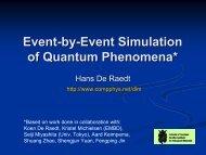 Event-by-Event Simulation of Quantum Phenomena (Colloqium ...