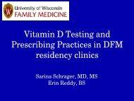 Vitamin D Testing and Prescribing Practices of Doctors in UW Family ...