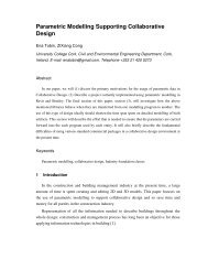 Parametric Modelling Supporting Collaborative Design