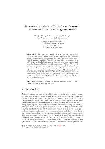 Stochastic Analysis of Lexical and Semantic Enhanced ... - CiteSeerX