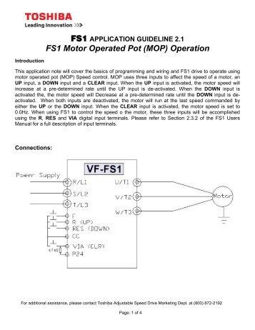 application guideline 5 1 fm terminal calibration toshiba rh yumpu com 9 Lead Motor Wiring Diagram 9 Lead Motor Wiring Diagram