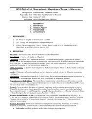 UCLA Policy 993: Responding to Allegations of Research Misconduct