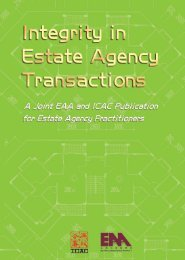 A Joint EAA and ICAC Publication for Estate Agency Practitioners