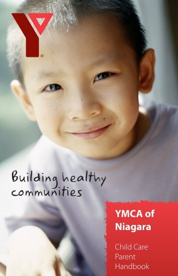Child Care Parent Handbook - YMCA of Niagara