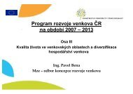 Program rozvoje venkova - Euroskop.cz