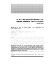 An arbitrarily high order discontinuous Galerkin scheme for the ...