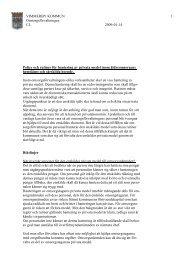 Policy och rutiner för hantering av privata medel inom ...
