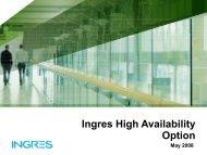Ingres High Availability Option - Actian