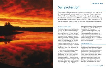 Sun protection - Ethical Company Organisation