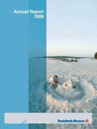 DenizBank Moscow 2006 Annual Report