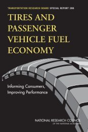 Tires and passenger vehicle fuel economy - Transportation ...