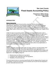 Fixed Assets Accounting Policy - San Juan County
