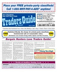 Place Your FREE Private-party Classifieds! - Traders Guide of Texas
