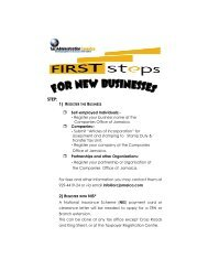 First Steps for New Business - Tax Administration Jamaica