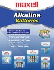 Alkaline - Maxell Canada