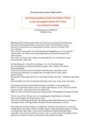 Zusammenfassung der Diplomarbeit - Weinakademie Österreich