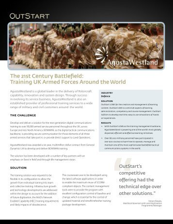 Training UK Armed Forces Around the World - OutStart