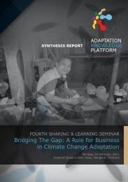Fourth Seminar on Bridging the gap: Synthesis Report - Regional ...