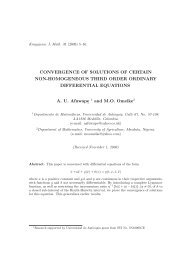 Convergence of solutions of certain non-homogeneous third order ...