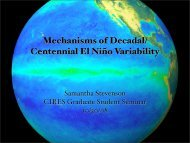 Mechanisms of Decadal/ Centennial El Nio Variability