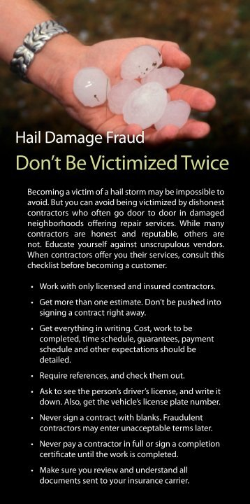 "Download RMIIA's ""Hail Damage Fraud"""