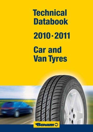 Technical Databook 2010·2011 Car and Van Tyres