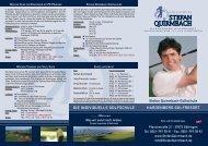 Flyer GolfschuleNEU - Stefan Quirmbach Golfschule