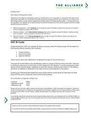 The Alliance Membership Report - October 2012