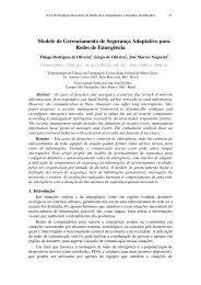 Modelo de Gerenciamento de Segurança Adaptativo para ... - UFMG