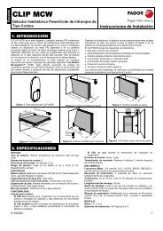 CLIP-MCW: Detector barrera - Fagor Electrónica