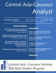 Joldosh Osmonov - The Central Asia-Caucasus Analyst