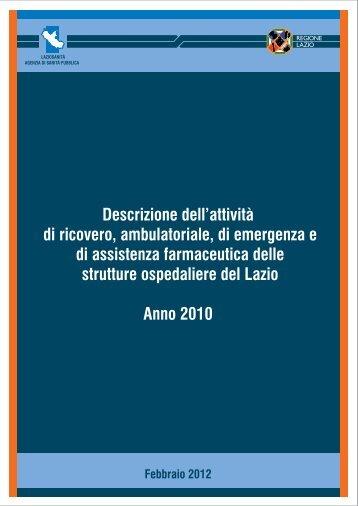 Descrizione dell'attività di ricovero, ambulatoriale, di emergenza e di ...